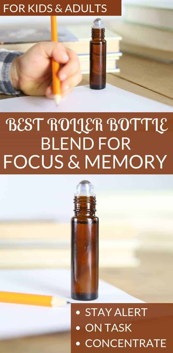Best roller bottle blend for focus and memory. Help your child stay alert, on task, and to concentrate.