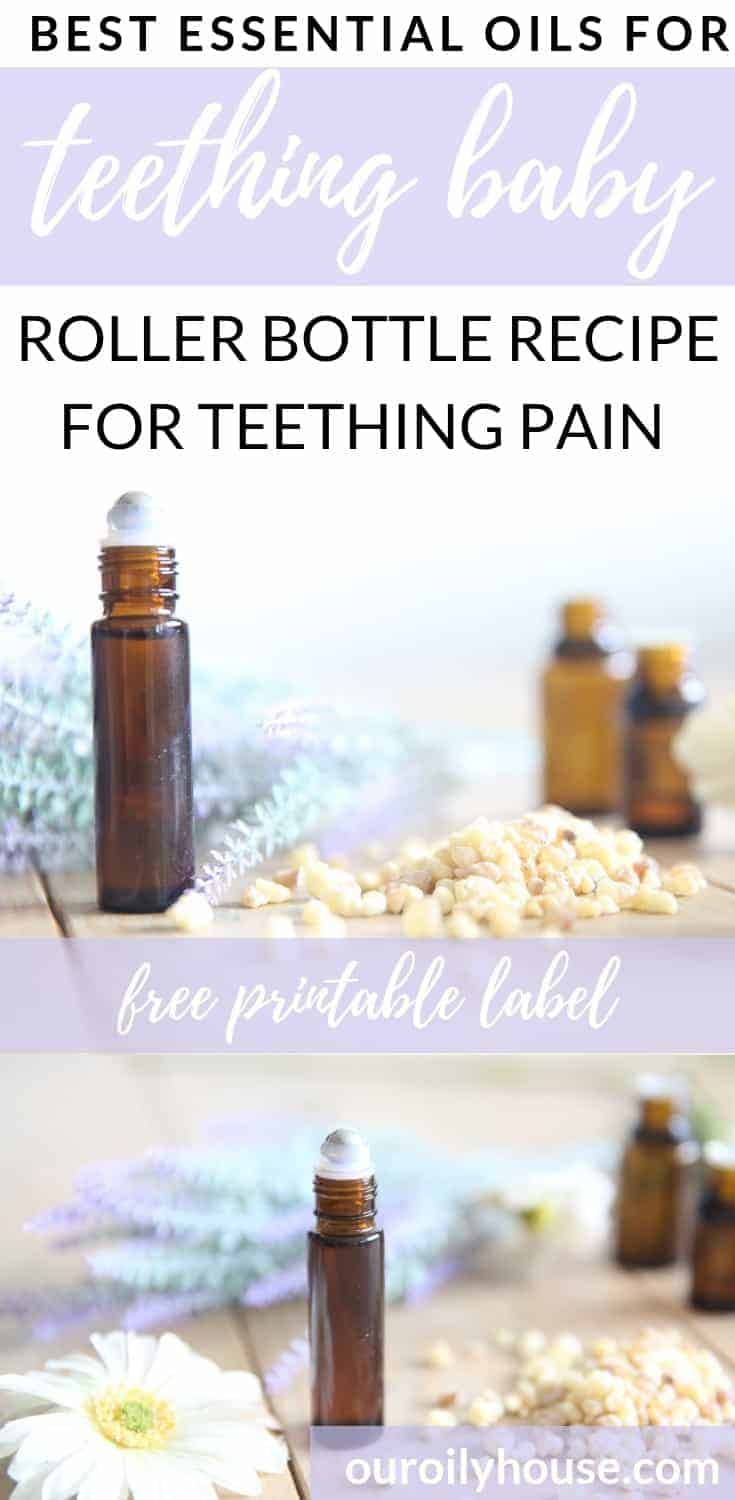 essential oils for teething pain pin