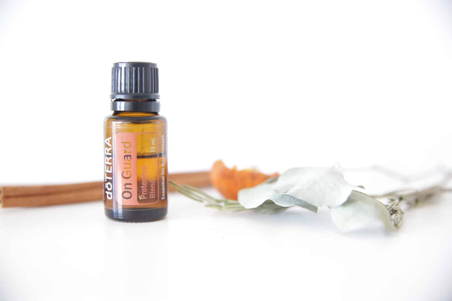 doTERRA's on guard essential oil can be used to give a natural immune boost when used topically, internally, and aromatically.
