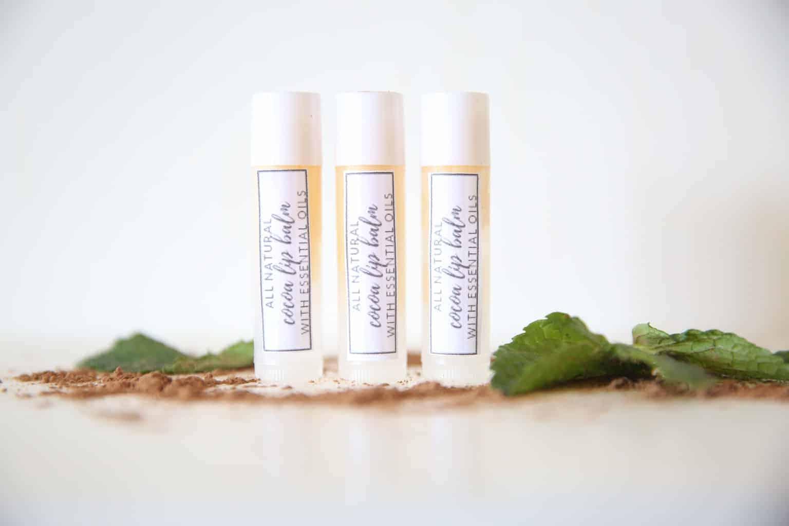 DIY Lip Balm with Essential Oils