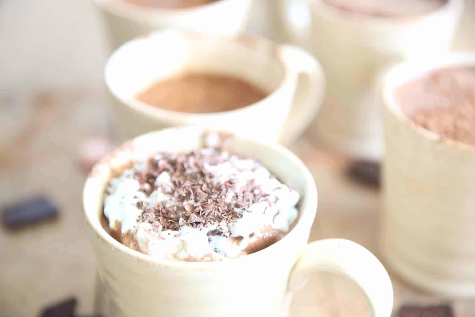 Paleo Peppermint Hot Chocolate