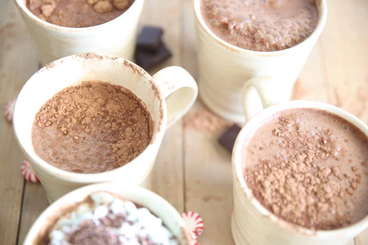 Paleo Peppermint Hot Chocolate 1