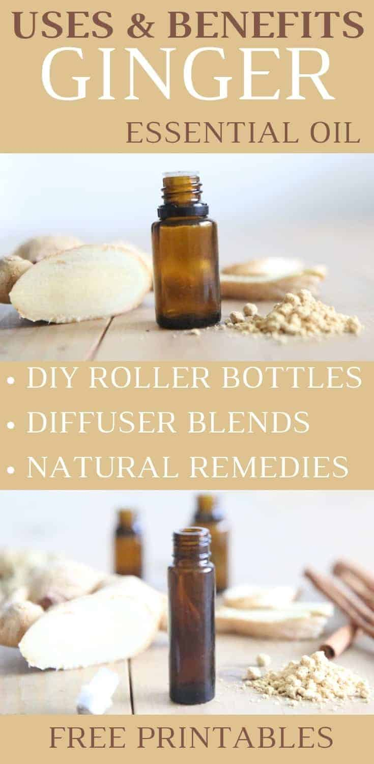 Ginger Essential Oil Highlight PIN