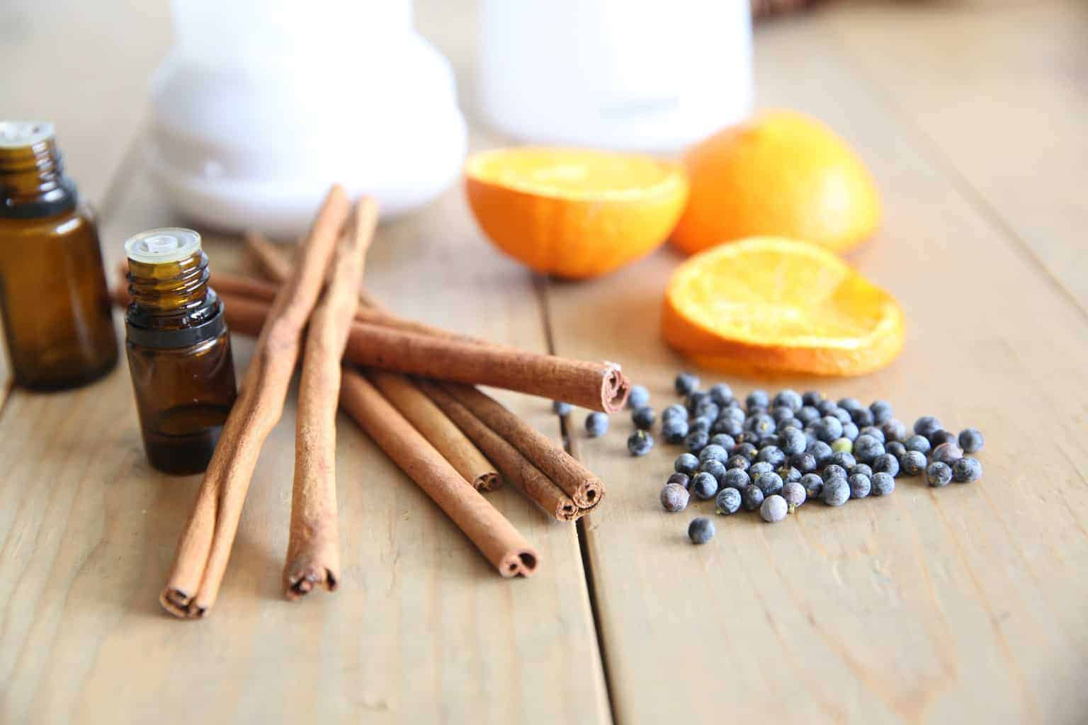 Essential oil diffusers release small molecules of essential oils into the air that can be inhaled to promote overall wellness and boost the immune system naturally.
