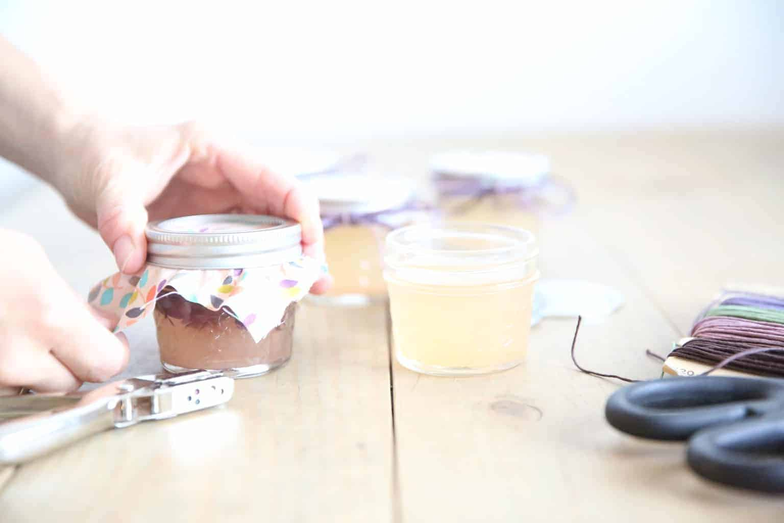 How to make gel air fresheners with essential oils, mason jars, and gelatin.