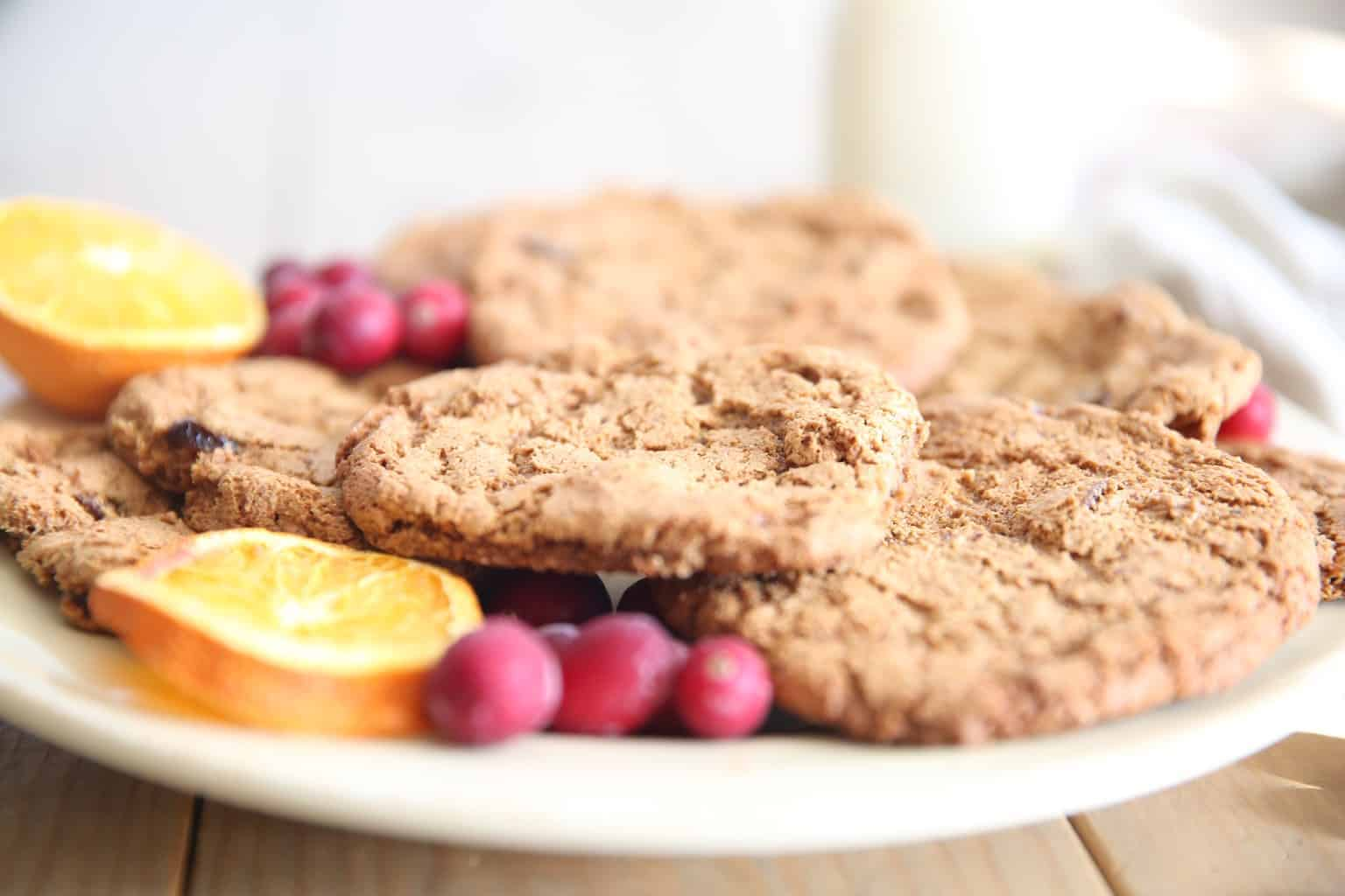 Wild orange essential adds the perfect sweet flavor to these cranberry paleo cookies.