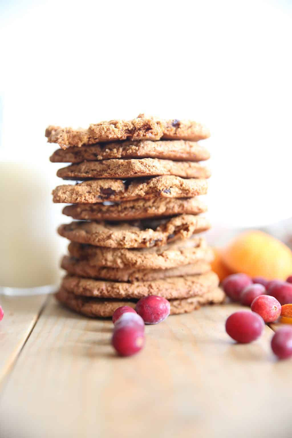 Cranberry cookies are made with almond flour making them gluten free and paleo approved.