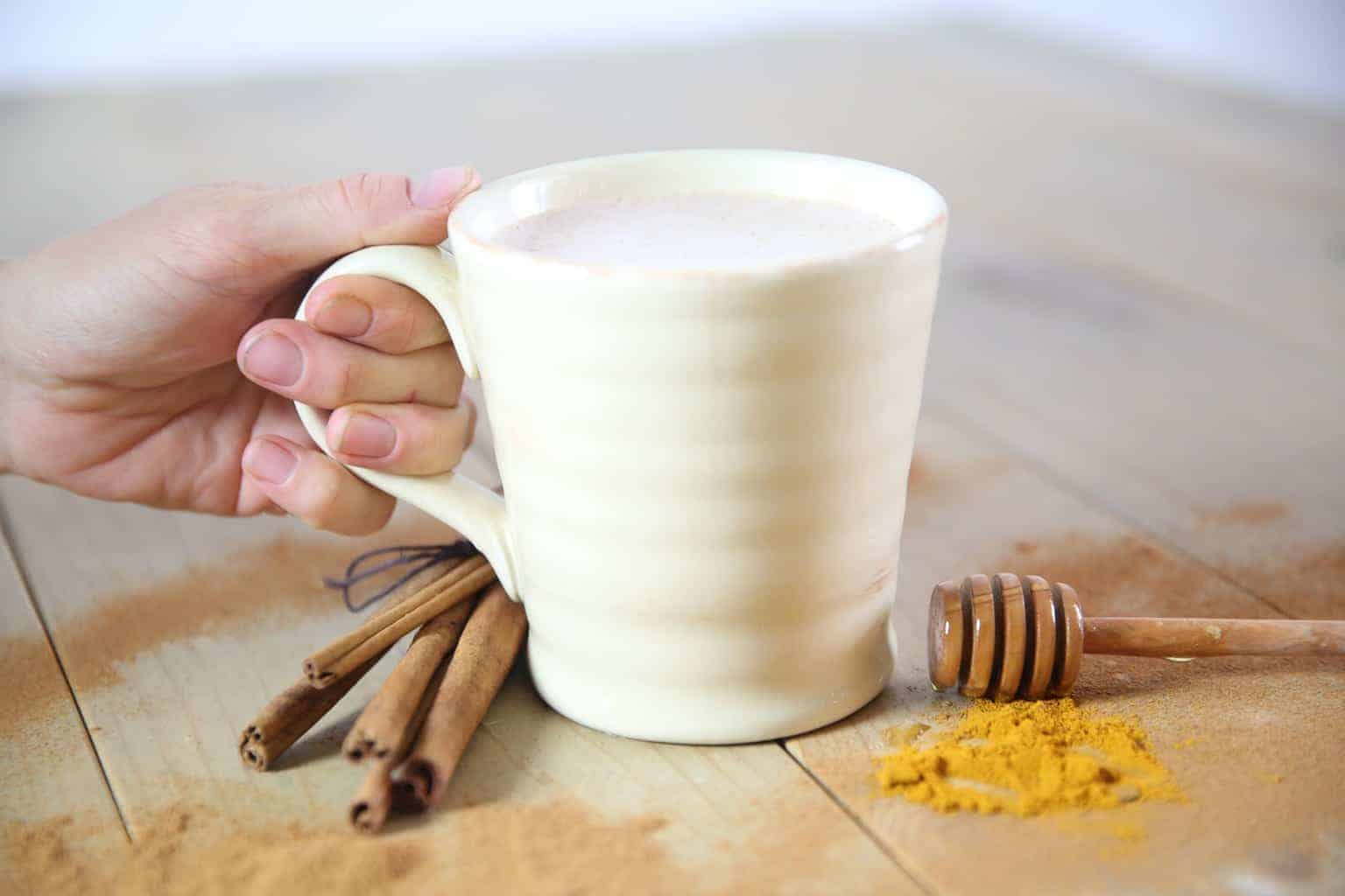 This turmeric latte is a delicious treat that is loaded with health benefits.