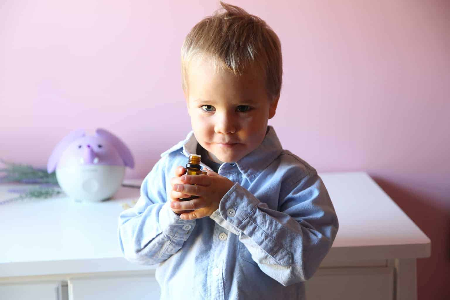 Natural remedies for children and babies using essential oils.