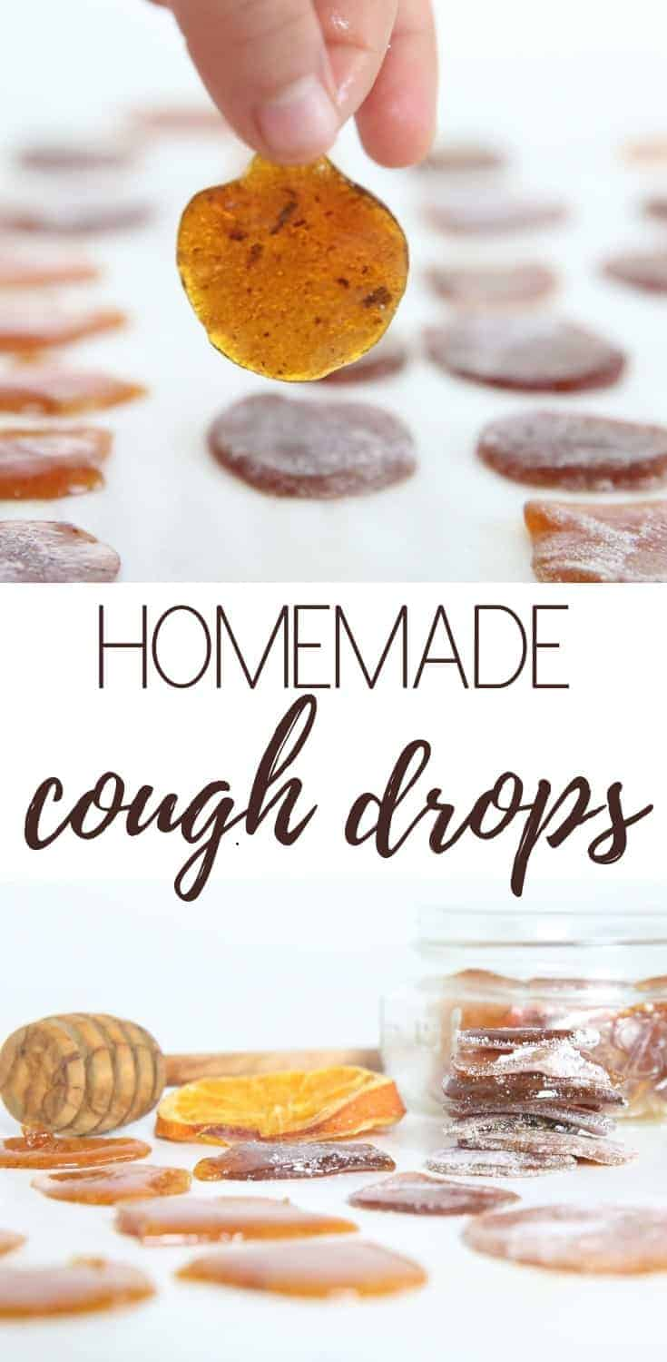 Homemade cough drops with essential oils