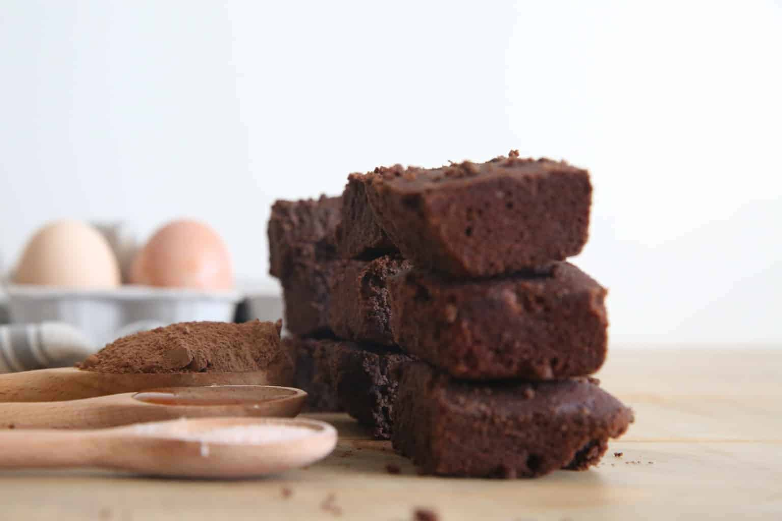 Enjoy these gluten free brownies sweetened with honey.