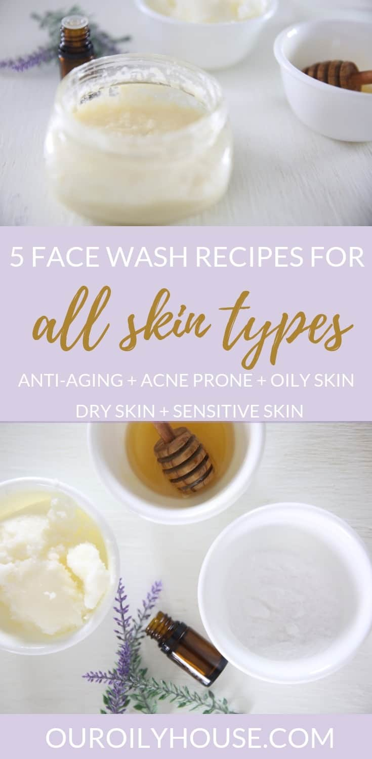 Learn how to make face wash with 3 simple ingredients.