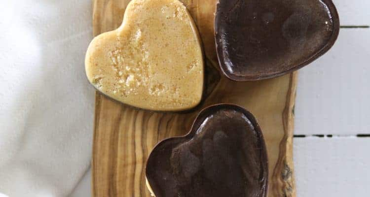 Paleo Peanut Butter Chocolate Hearts|Healthy Valentine Treat