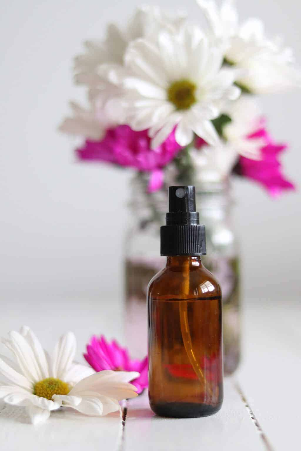 With water, baking soda, and essential oils you can make a DIY room spray that can replace febreze! Try out these 5 essential oil room sprays for spring.