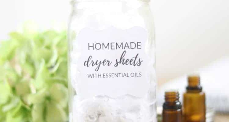 Learn how to make an all natural reusable dryer sheet with just two ingredients.