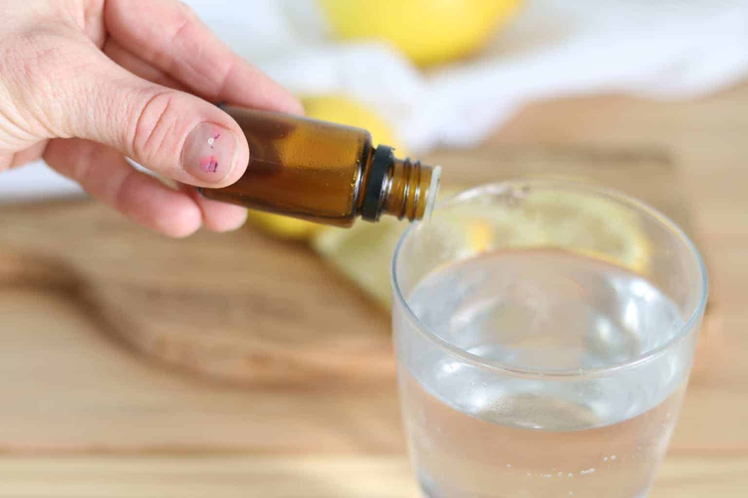 If you are using high quality, pure, organic, therapeutic grade essential oils, like Doterra, you can take lemon essential oil internally. Add 1-2 drops to 4 ounces of water, make a vegetable capsule by adding 1-3 drops of essential oil, or simply drop the essential oil under the tongue.