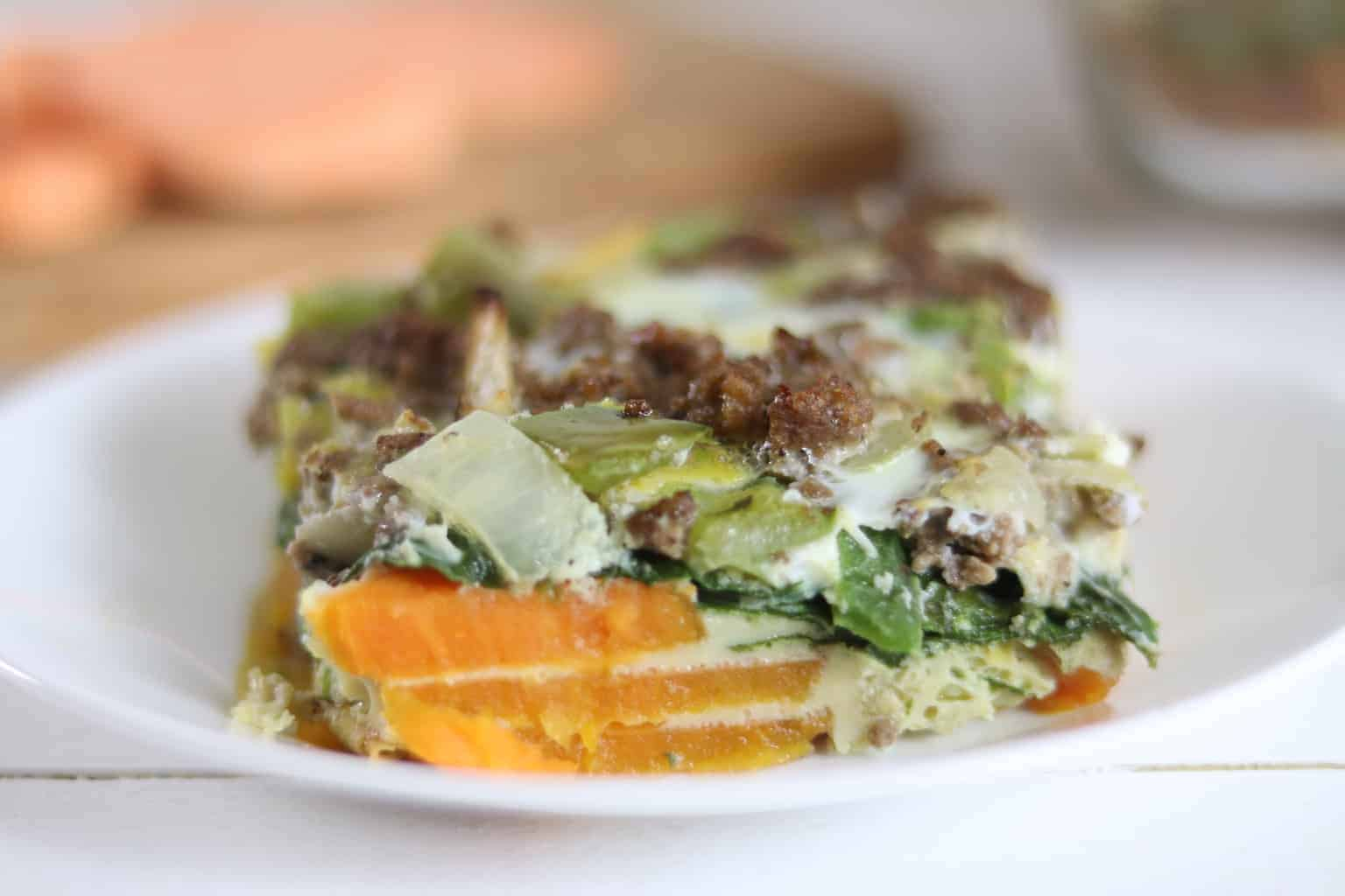 This simple sweet potato egg casserole is whole 30 and paleo friendly. It will make the perfect dish for a healthy brunch.