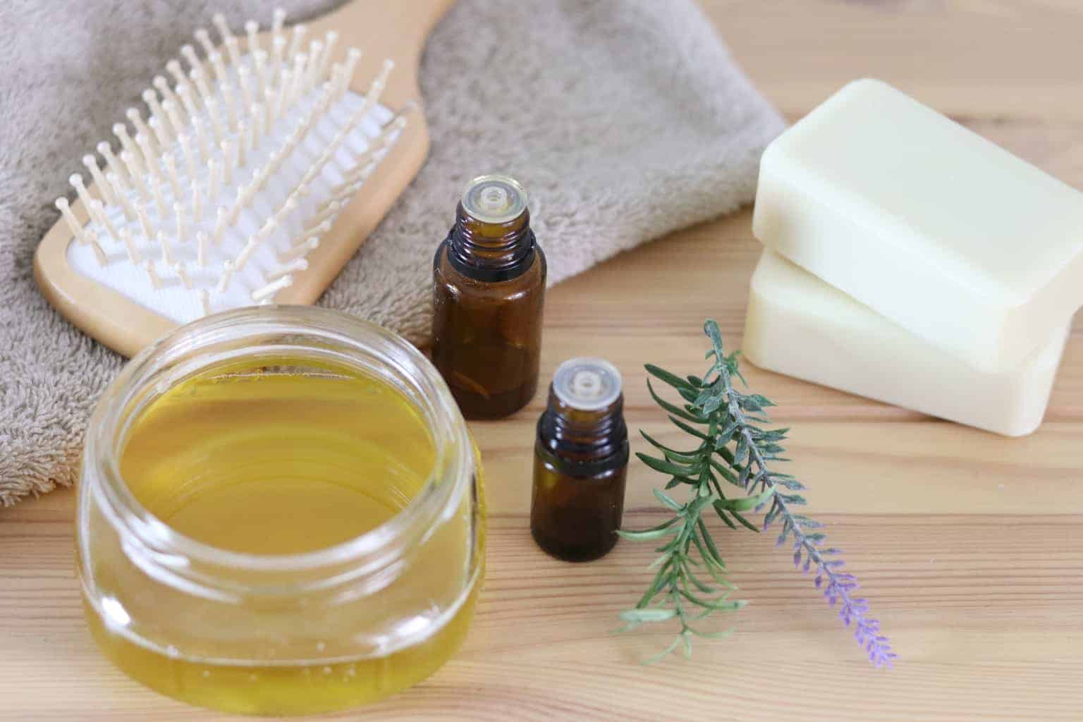 How to make essential oil scented conditioner at home with 5 simple ingredients.