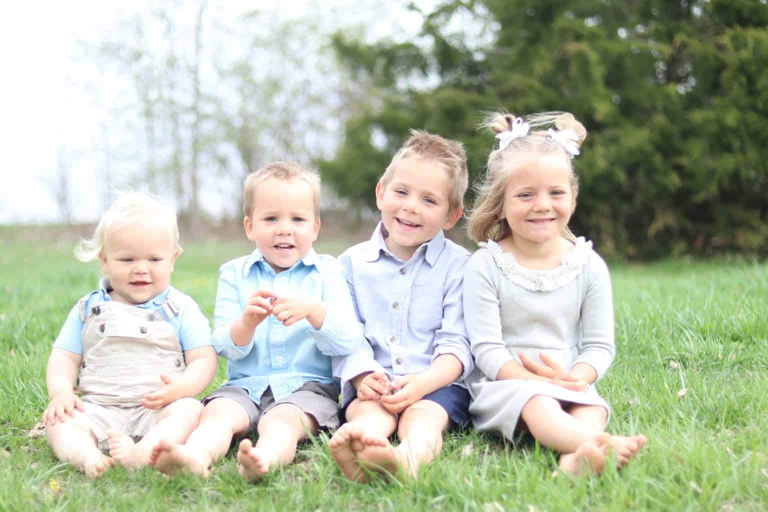 Come along for a typical day in the life of a stay at home mom of 4 young children.