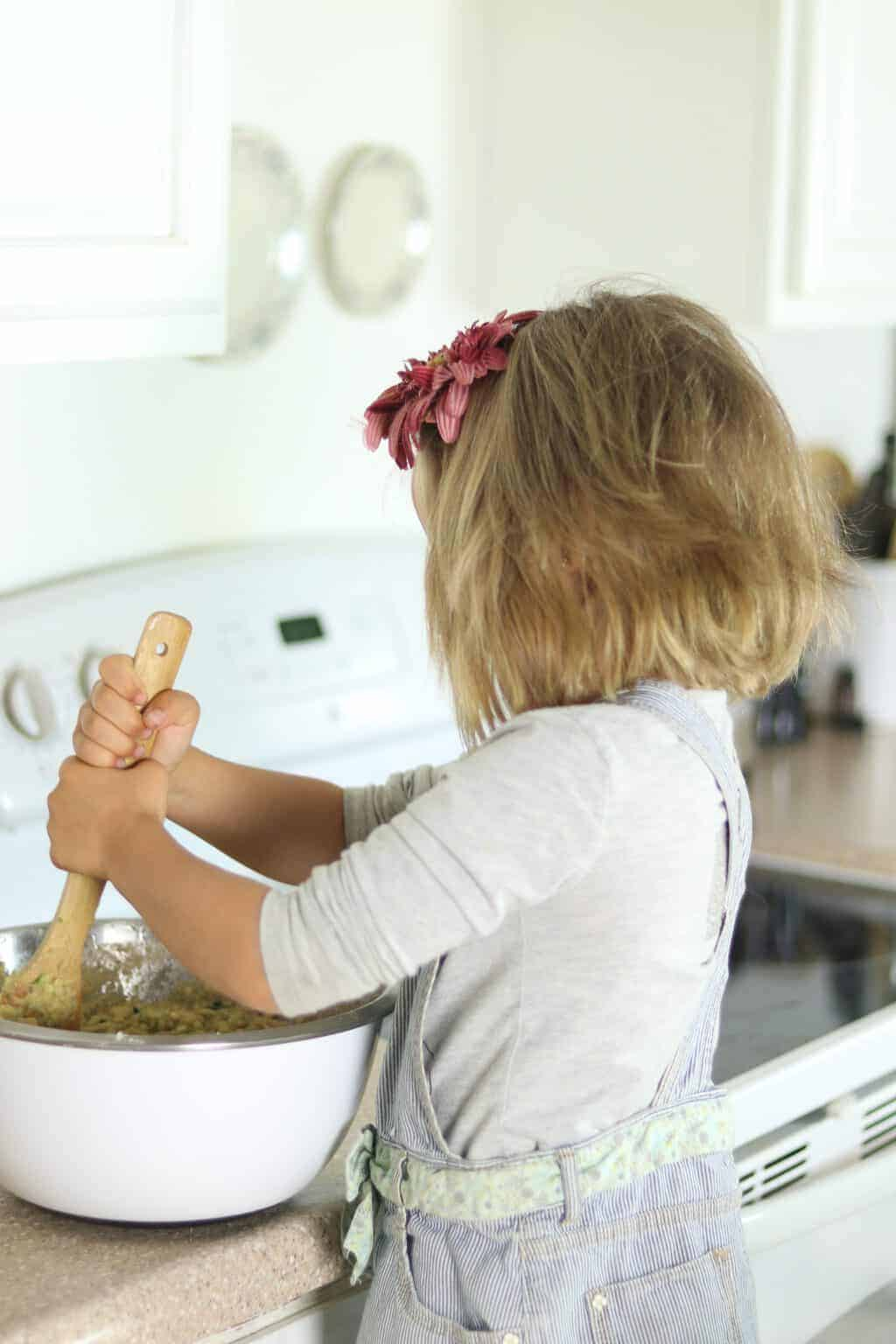 Letting your child help prepare the meal can make them more likely to eat the food, even if it is something they don't usually like to eat.
